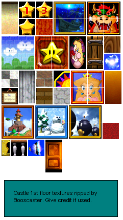 Nintendo 64 - Super Mario 64 - Castle (1st Floor) - The