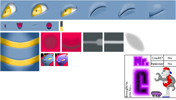 GameCube - Pokémon Colosseum - #313 Volbeat - The Textures