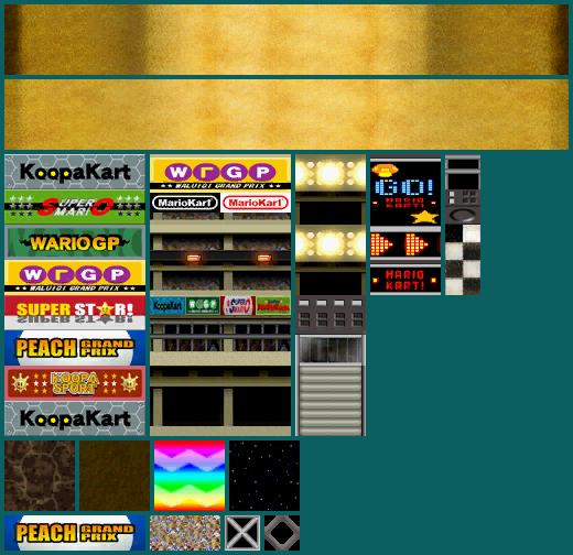 DS / DSi - Mario Kart DS - Wario Stadium - The Textures Resource