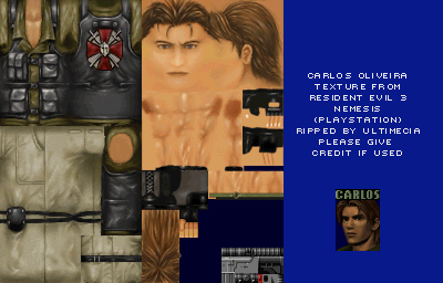 Playstation Resident Evil 3 Carlos Oliveira The Textures Resource