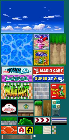 DS / DSi - Mario Kart DS - GCN Yoshi Circuit - The Textures