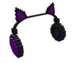 8-Bit Purple Cat Ears Headphones