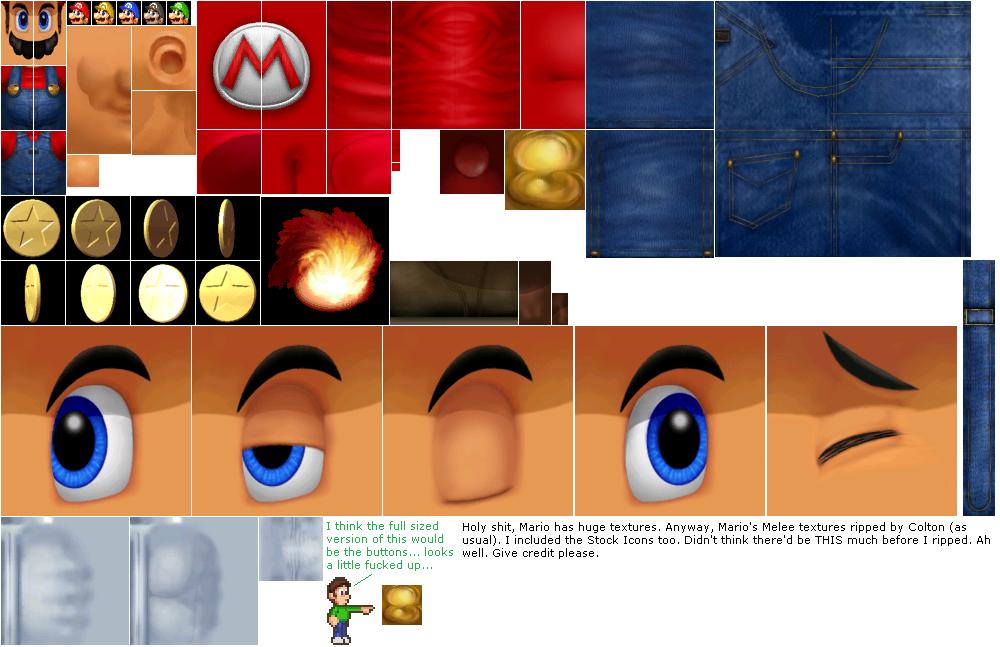 Gamecube Super Smash Bros Melee Mario The Textures