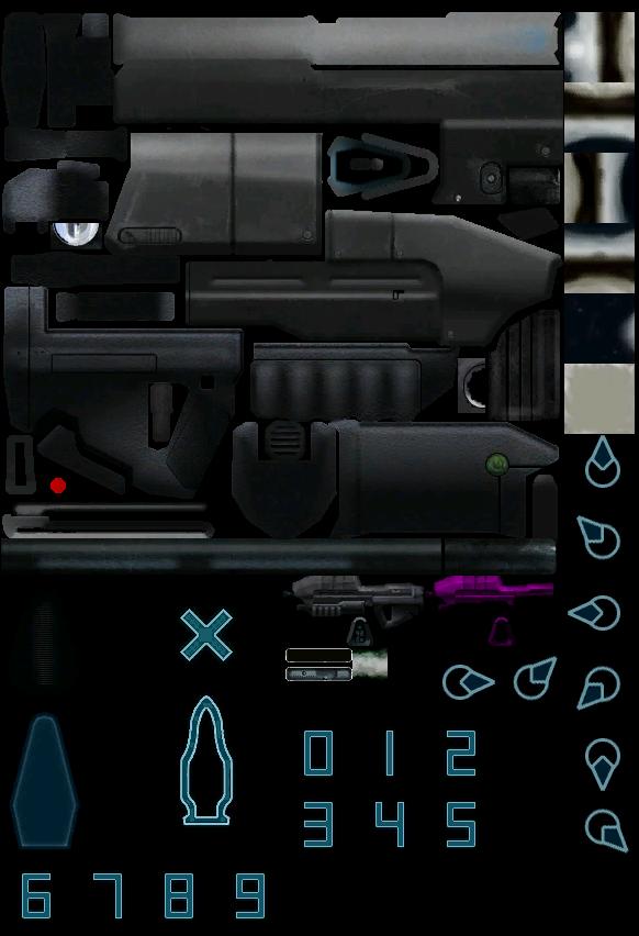 pc    computer - halo  combat evolved - assault rifle