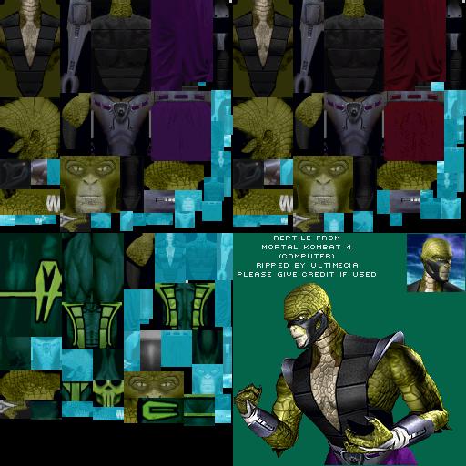 pc    computer - mortal kombat 4 - reptile