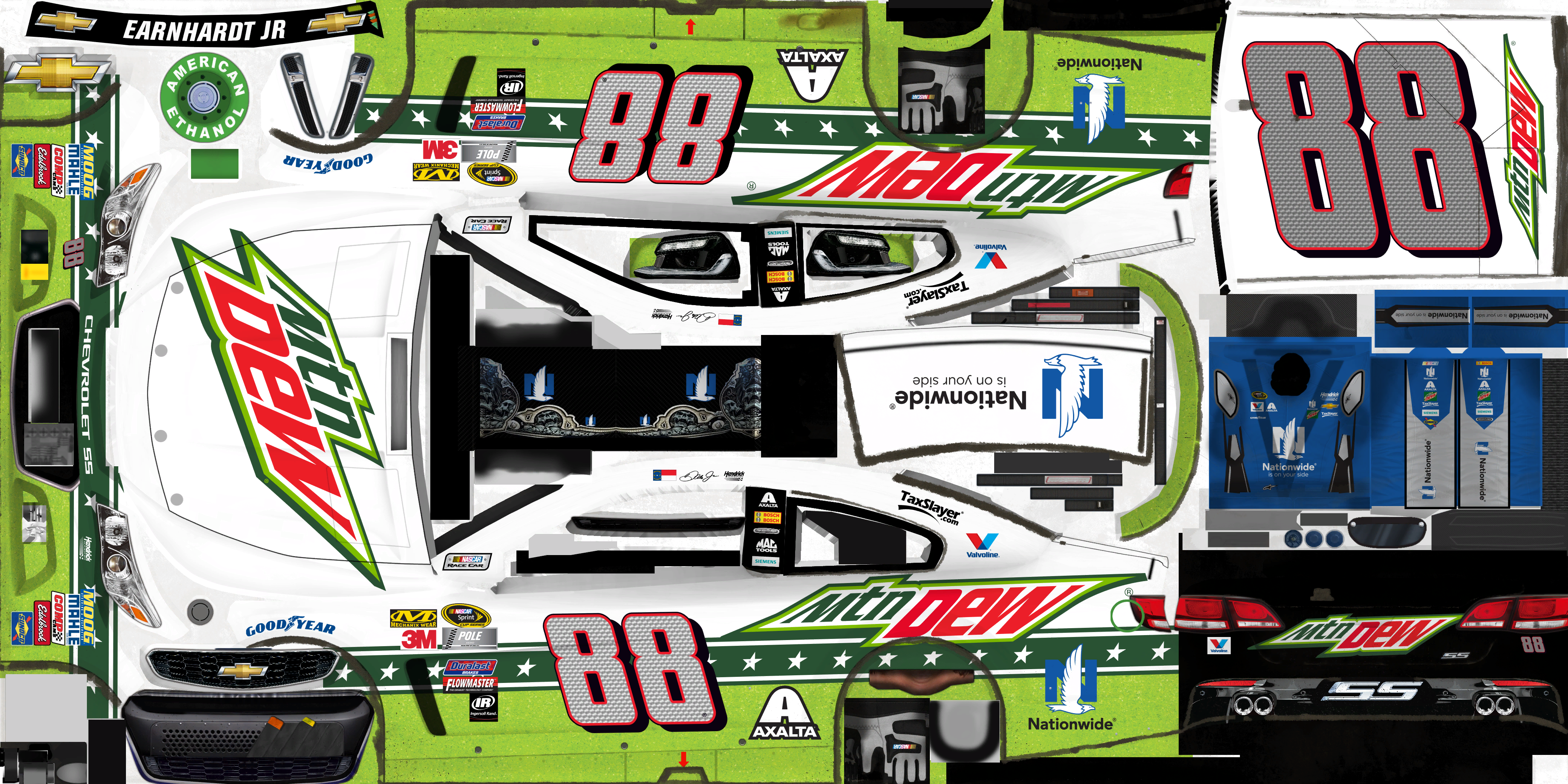 #88 Dale Earnhardt Jr. (Mountain Dew)