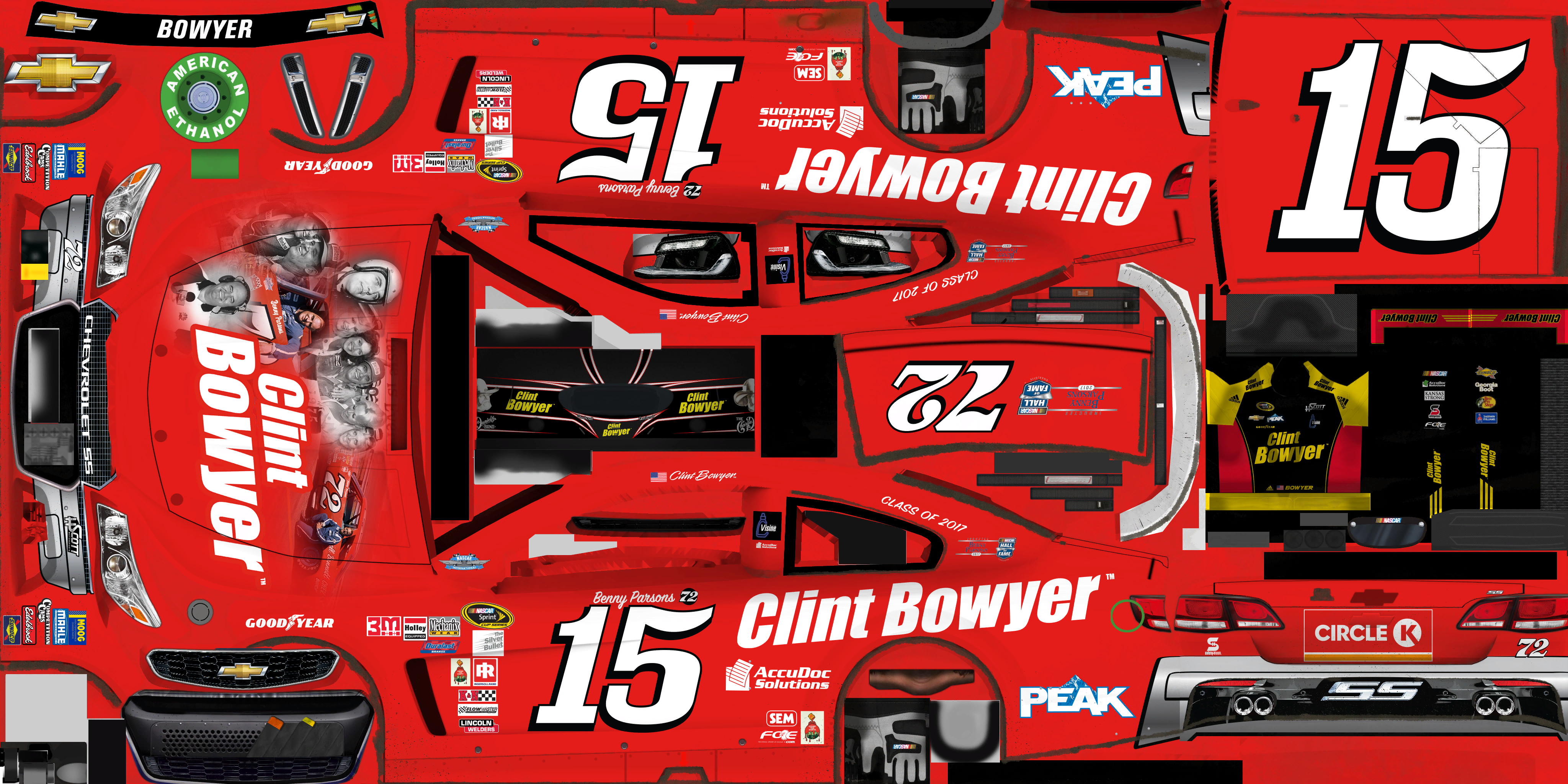 #15 Clint Bowyer (Benny Parsons Throwback)