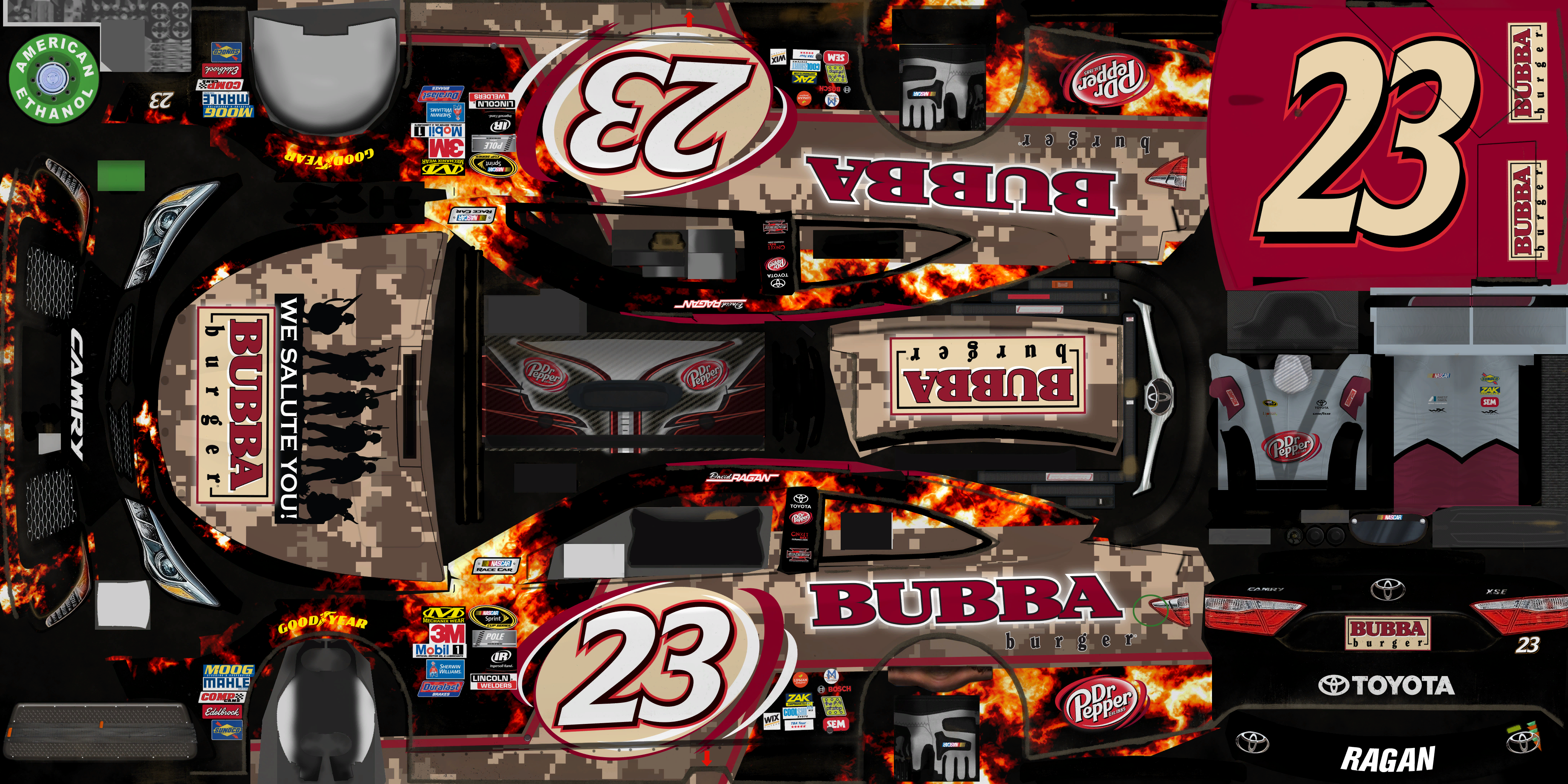 #23 David Ragan (BUBBA Burger)