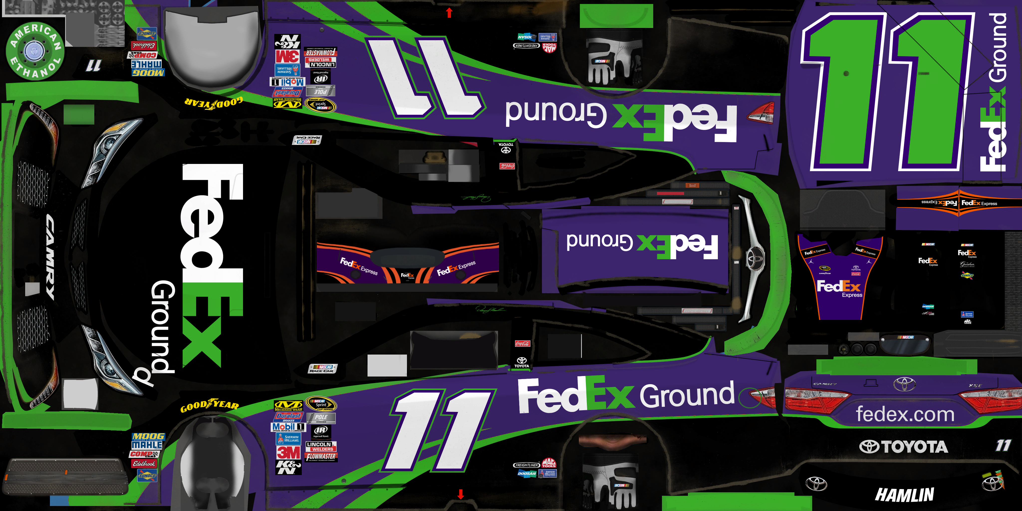#11 Denny Hamlin (FedEx Ground)